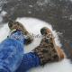 Women's military pattern boots