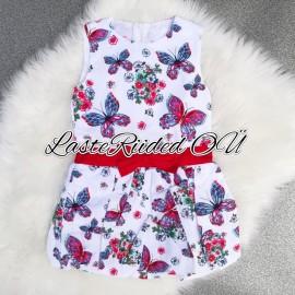 Платье с бабочками для девочек