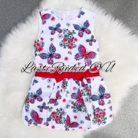 Girls dress with butterflies
