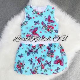 Tüdrukute kleit liblikatega