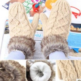 Warm gloves Knit