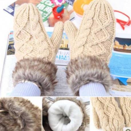Warm gloves Knit