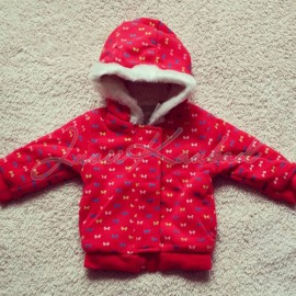 Warm hoodie with bows