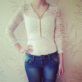 Woman knitted blouse